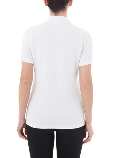 Lacoste  Düğmeli Polo T Shirt Kadın Polo Pf5462 001 Beyaz